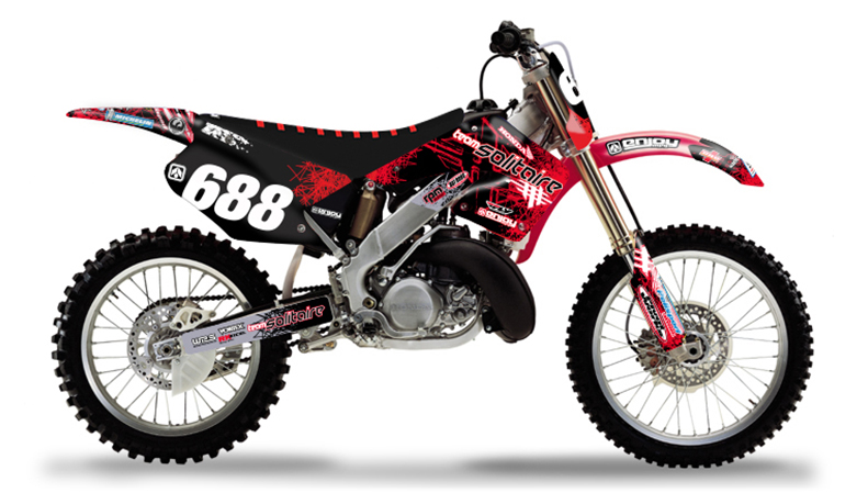 2000 2001 honda cr 125 250 solitaire motocross graphics. Black Bedroom Furniture Sets. Home Design Ideas