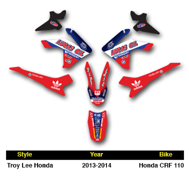 2013 2016 honda crf 110 tld dirt bike graphics kit motocross