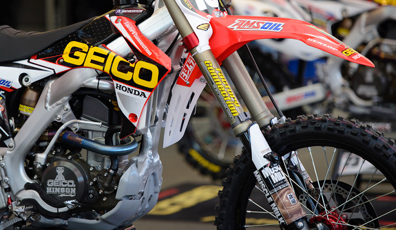 2014 2016 honda crf 250 geico fork guards dirt bike graphics ebay. Black Bedroom Furniture Sets. Home Design Ideas