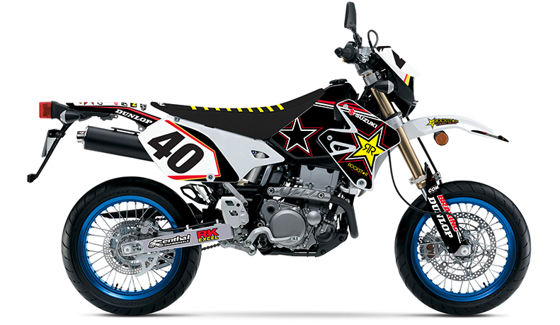 2000 2014 suzuki drz 400 sm rockstar dirt bike graphics custom number plates ebay. Black Bedroom Furniture Sets. Home Design Ideas