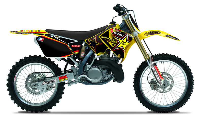 2001 2014 suzuki rm 125 250 team rockstar dirt bike graphics kit by enjoy mfg ebay. Black Bedroom Furniture Sets. Home Design Ideas