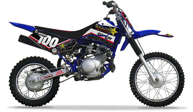 2000 2007 yamaha ttr 125 l le rockstar dirt bike graphics for Yamaha ttr models